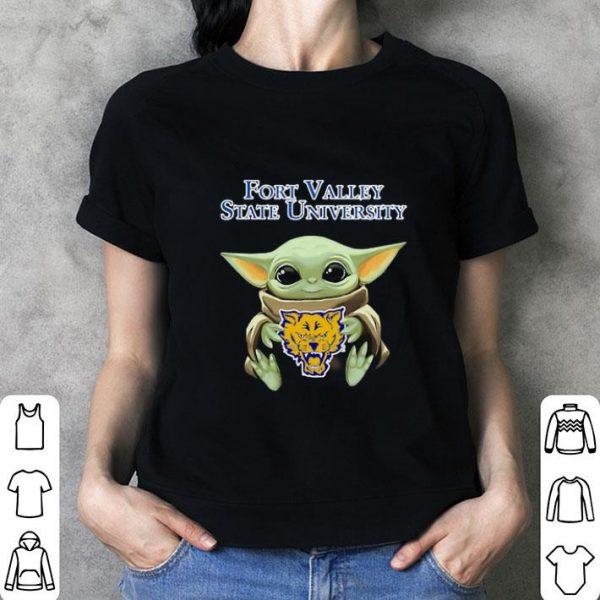 Cheap Baby Yoda Hug Fort Valley State Wildcats Star Wars shirt