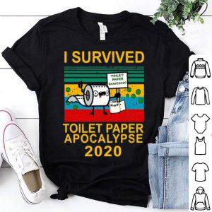 I Survived Toilet Paper Apocalypse Toilet Paper Panic 2020 Vintage shirt