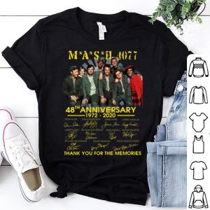 Mash 4077 48th Anniversary Thank You For The Memories Signatures shirt