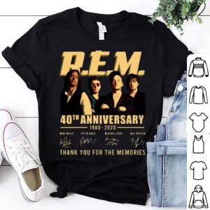 R.E.M. 40th Anniversary Thank You For The Memories Signatures shirt