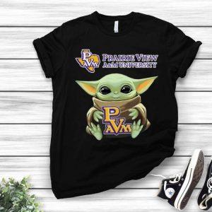 Star Wars Baby Yoda Hug Prairie View A&M University shirt