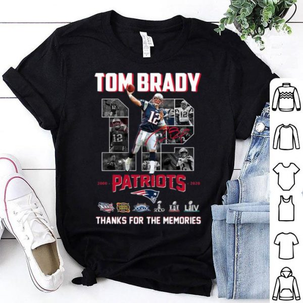 Tom Brady Patriots 2000-2020 Thank You For The Memories shirt