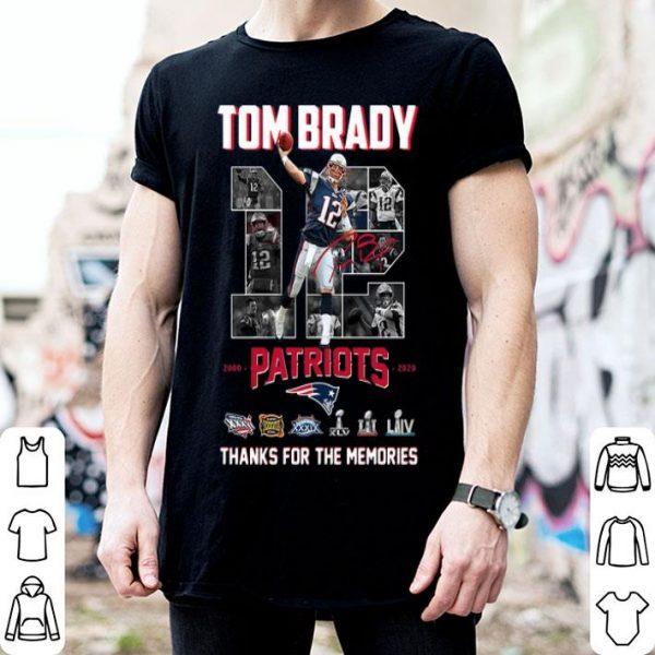 Tom Brady Patriots 2000-2020 Thank You For The Memories shirt