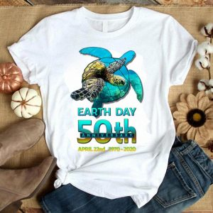Turtles Earth Day 50th Anniversary April 22nd 1970-2020 shirt