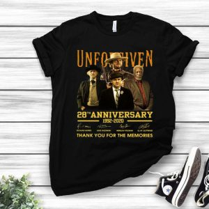 Unforgiven 28th Anniversary Thank You For The Memories Signatures shirt