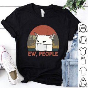 Vintage Ew People Woman Yelling Cat Mask shirt