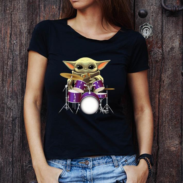 Awesome Baby Yoda Hug Drummers shirt