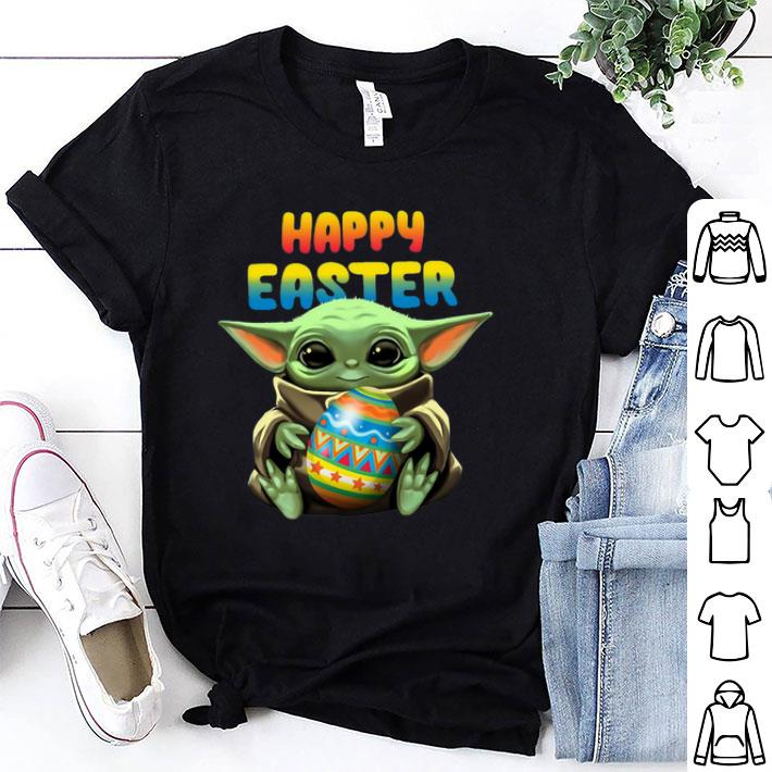 Baby Yoda hug Happy Easter shirt