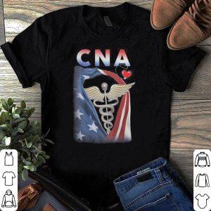 Patriotic CNA heartbeat shirt