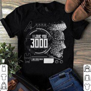 Avengers Endgame I love you 3000 Iron Man shirt