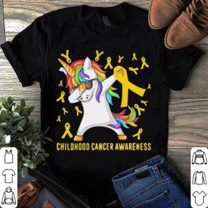 Childhood Cancer Awareness Dabbing Unicorn Warrior shirt