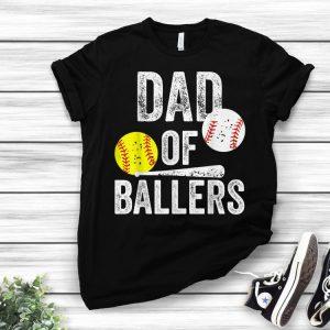 Dad of Ballers Baseball softball fromon shirt