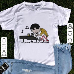 Freddie Mercury in the style of peanuts  shirt