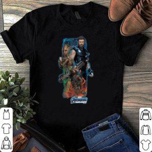 Marvel Avengers Endgame Thor Groot and Rocket Racoon shirt