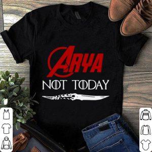 Marvel arya stark not today game of thrones shirt