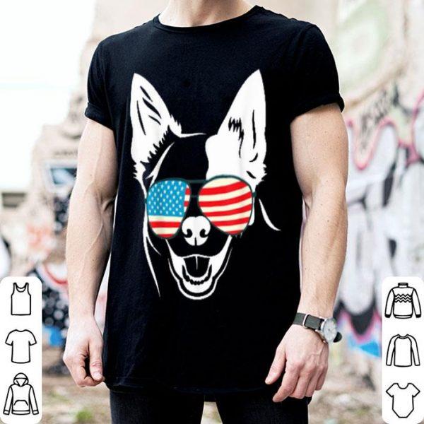 4th Of July Patriotic German Shepard Dog Tee Shirt
