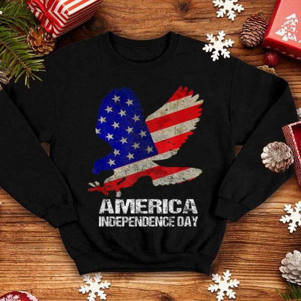 America Independence Day Bald Eagle 4th of July USA Flag shirt