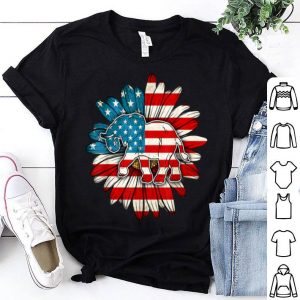 American Flag Elephant Fathers Day Hippy shirt