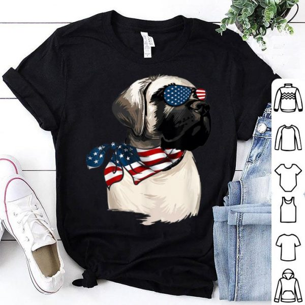American Flag English Mastiff Patriotic 4th Of July Shirt