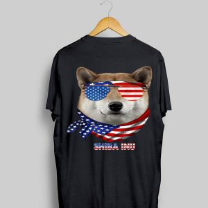 American Flag Hiba Inu Dog Lover shirt