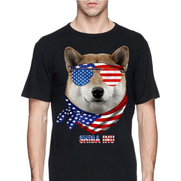American Flag Hiba Inu Dog Lover shirt