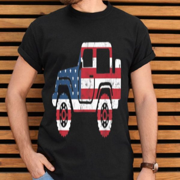 American Flag Jeep, 4th Of July Jeep Shirt