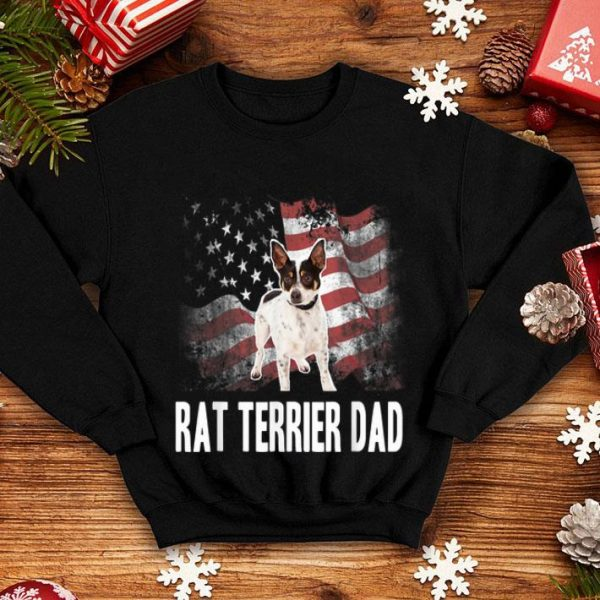 American Flag Usa Patriotic Rat Terrier Dad 4th July Shirt
