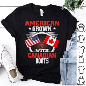 American Grown With Canadian Roots Usa Flag Premium Shirt