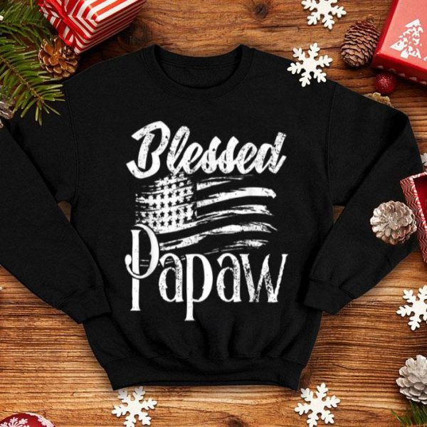 Blessed Papaw American Flag Fathers day 2019 shirt