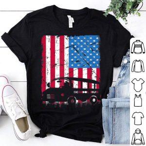 Bus Driver American Flag Patriotic Bus Driver Job shirt
