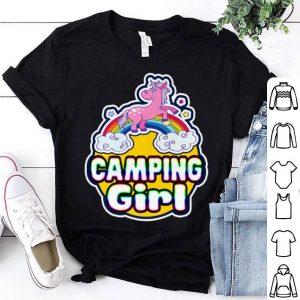 Camping Girls Rainbow Unicorn Camp shirt