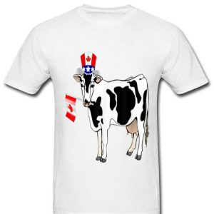 Canada - Maple Leaf Cow Canadian Flag Shirt