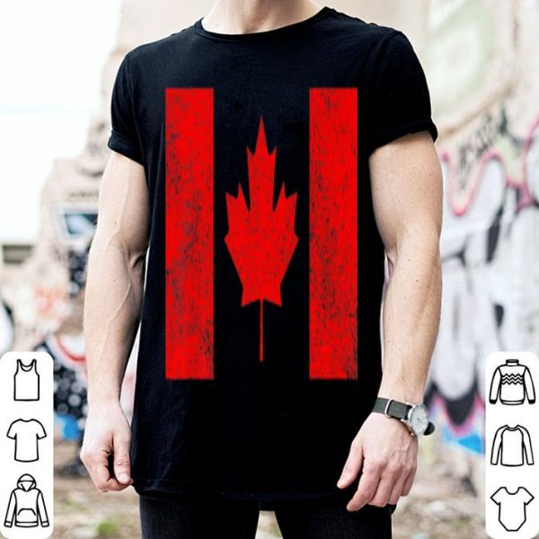 Canada National Flag Distressed Gift Shirt