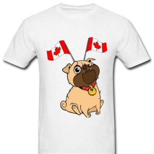 Canada National Flag Funny Pug Lover Shirt