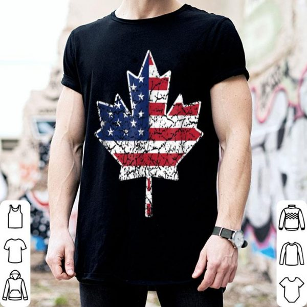 Canadian American Flag - Canada And Us Flag shirt