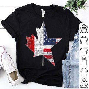 Canadian American USA Canada Flag Maple Leaf shirt