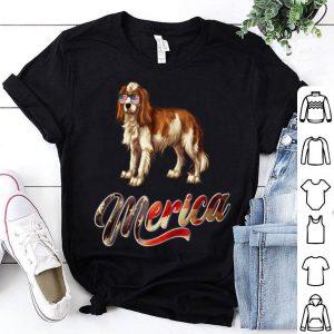 Cavalier King Charlespaniel Breed Dog America Flag shirt