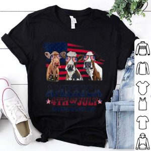 Cow America 4th Of July Independence Day shirt