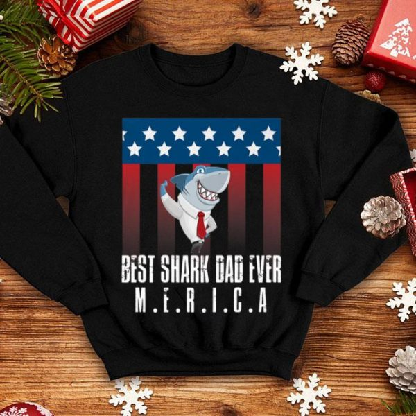 Dad Shark 4th Of July Independence Day shirt