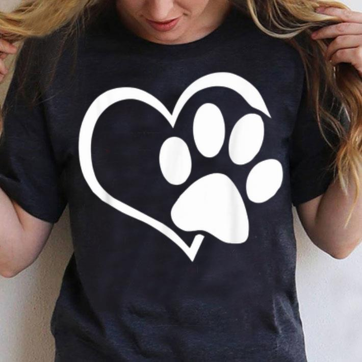Dog Puppy I Love Dogs Paw Print Heart