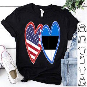 Estonian American Estonia & America Flag shirt