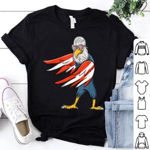 Flossing Floss Dance Bald Eagle Red White And Blue Flag shirt