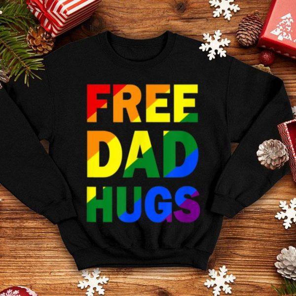 Free Dad Hugs Rainbow LGBT Pride Shirt