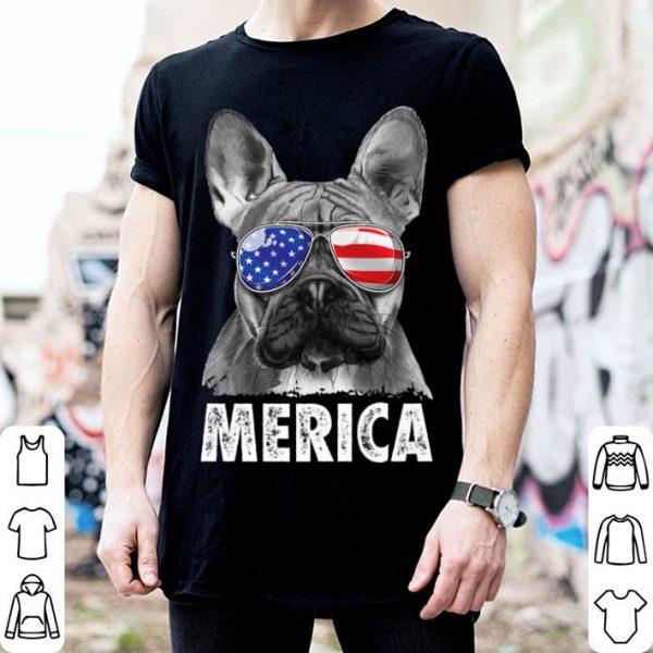 French Bulldog 4th Of July Merica Women Usa Flag Premium Shirt