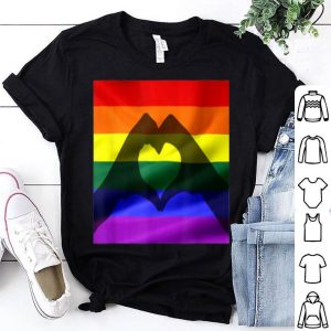 Gay Pride Flag Heart Gay Lesbian Trans Lgbtq Shirt