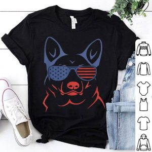 German Shepherd Patriotic American Flag Dog shirt