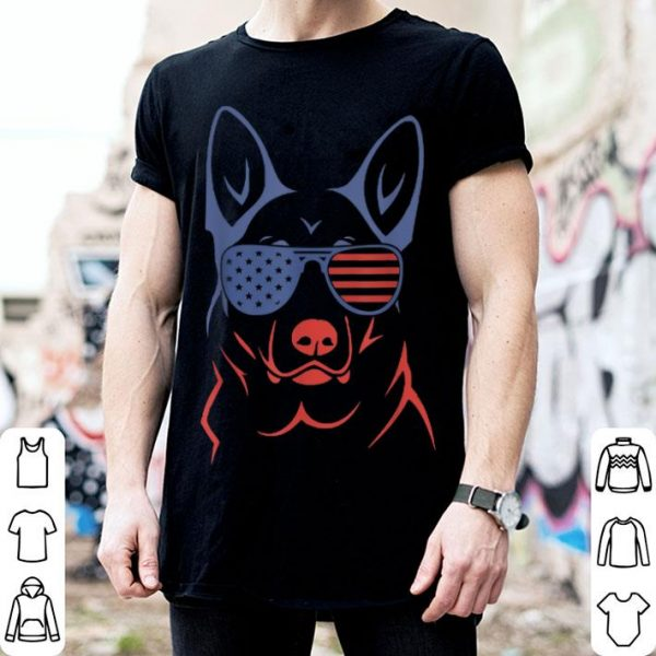 German Shepherd Patriotic American Flag Dog shirt