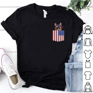 German Shepherd Pocket 4th Of July American Flag Patriotic shirt