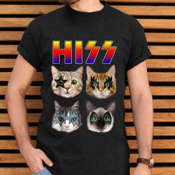 Hiss Cats Kittens Rock Rockin Gift Tee Pun Shirt