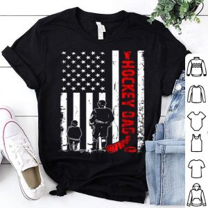 Hockey Dad Father Day American Flag shirt
